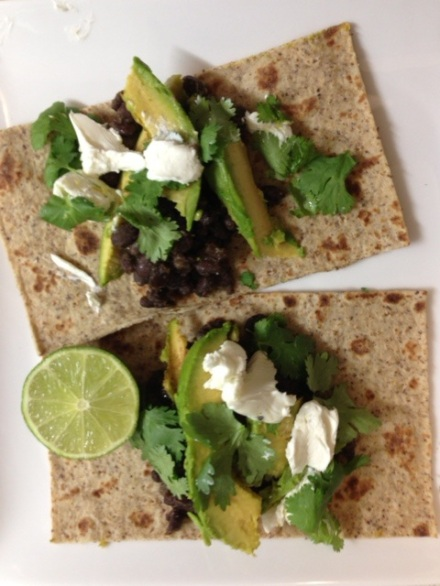 Goat cheese tacos