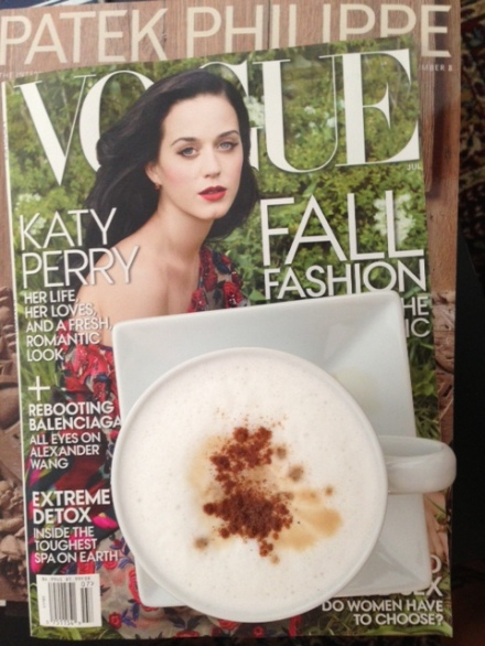 vogue katy perry and cappucino